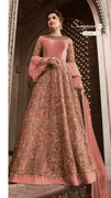 Flare sleeves embellished Gown