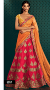 Magenta Pink Lehenga With Contrast Blouse