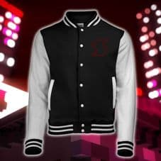 LIMITED EDITION Savlonic Black Plastic Varsity Jacket