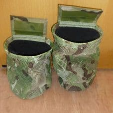 Mesh collapsible dump pouch