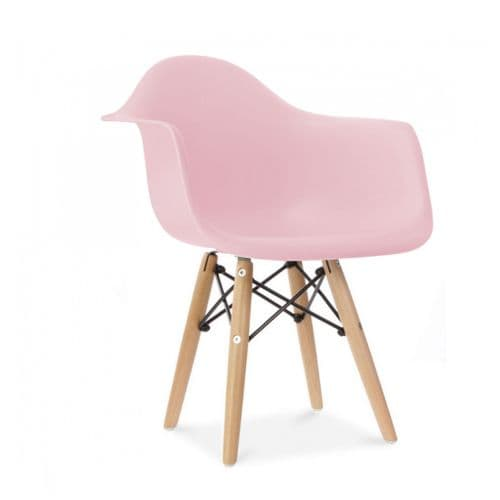 Set of Two Child's Eiffel Style Plastic Arm Chair, Pink