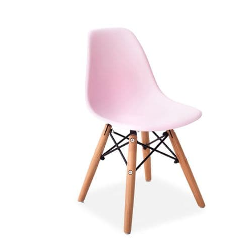 Set of Two Child's Eiffel Style Plastic Chair, Pink