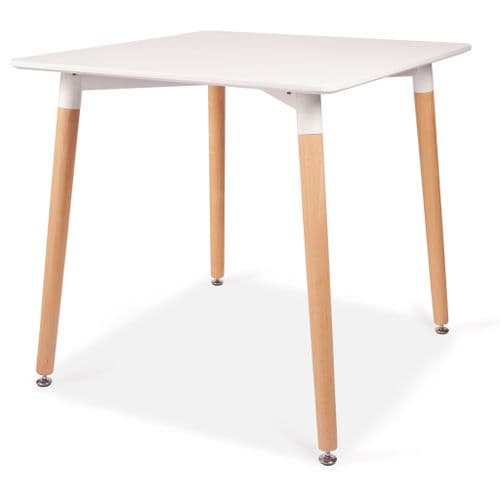 Square Dining Table 80cm 4 seater - White