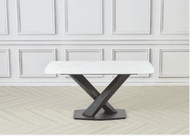 Ayden Dining table Square White 160x80