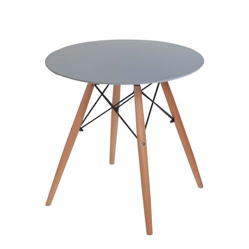 Eiffle Round Dining Table 4 Seater 80cm -Grey