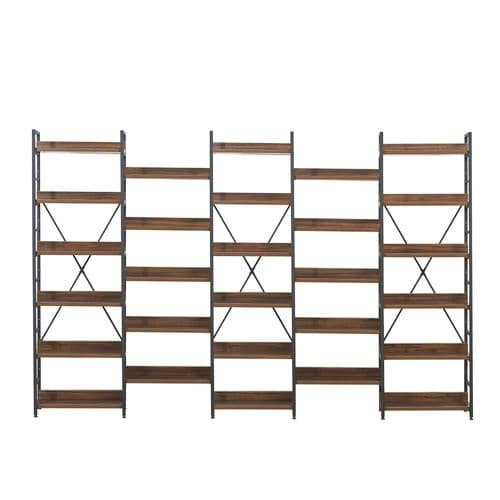 Mmilo Walnut MDF Joint set-3 bookshelf