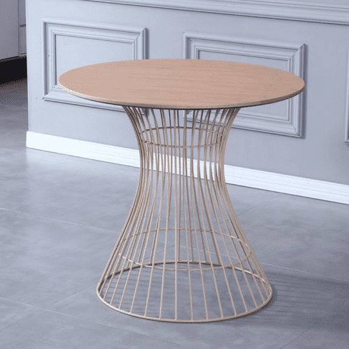Neo Hourglass round Dining table with Fawn leg