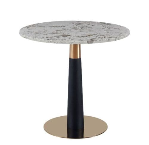 Round Pantheon Dining Table - Art Deco Legs 80cm