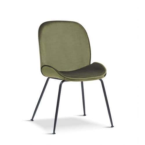 x2 Mmilo Journey Olive Green Chair Black Legs