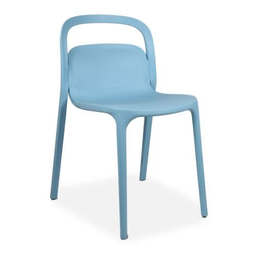x4 Plastic Stackable Blue Smith1 Chairs