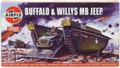 Airfix A02302V Buffalo & Willys MB Jeep