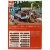 Busch 07871 Planters and Palisades - reduced