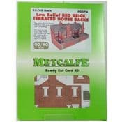 Metcalfe PO276 Low Relief Red Brick Terraced House Backs