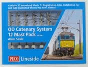 Peco LC100 LC-100 Catenary System -12 Mast Pack