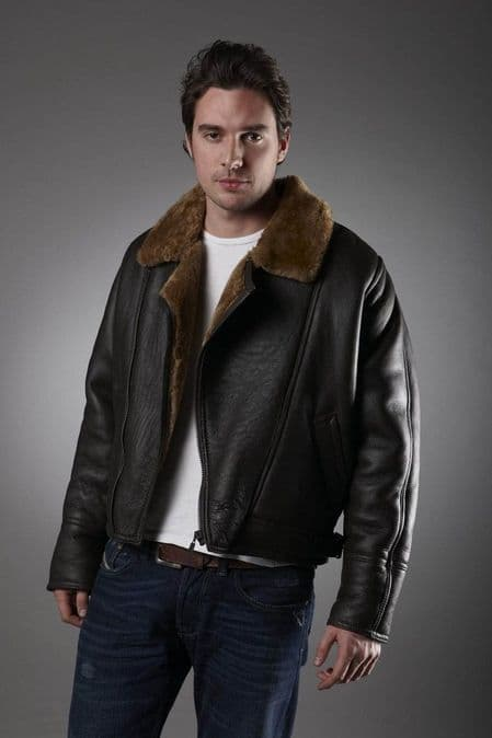 Men's Brown Sheepskin Jacket