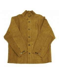 Gold Leather Welding Jacket
