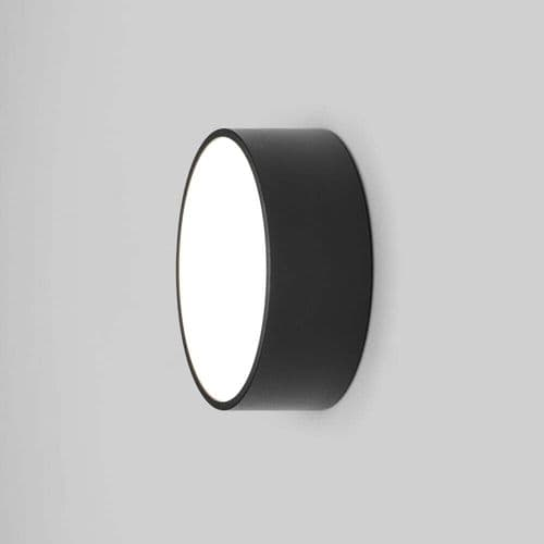 Astro 1391002 Kea Round 150 Outdoor LED Wall/Ceiling Light Black