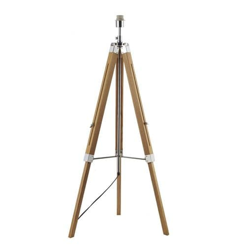 Dar EAS4943 PYR182 Easel Tripod Floor Lamp Base With White Linen Drum Shade