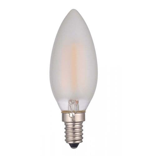Dar Pack of 5 E14 LED Candle Lamp 4W Frosted
