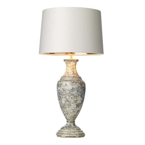David Hunt NOB4212 Noble Table Lamp In A Hand Painted Cream/gold