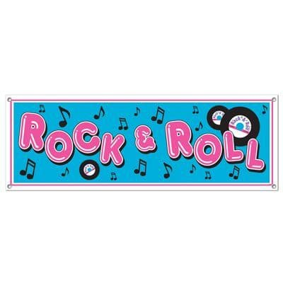 50s Rock & Roll Sign Banner