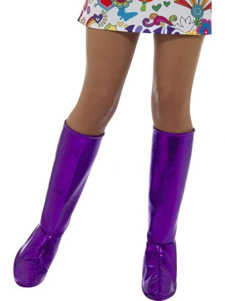 60s Purple GoGo Boot Covers