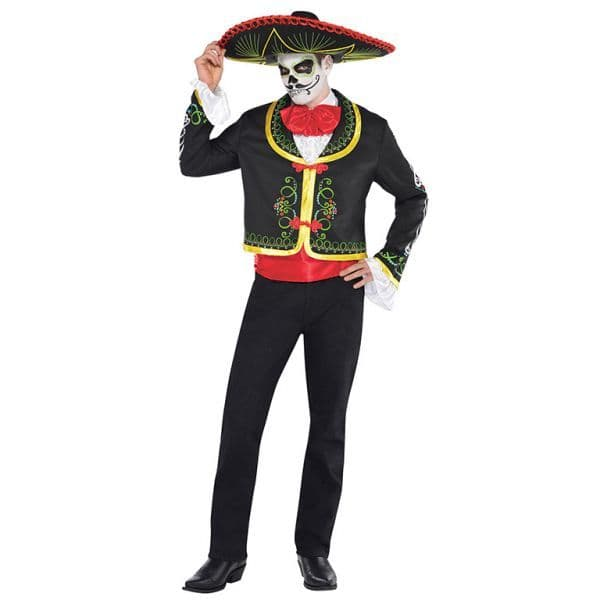 Adults Day Of The Dead Senor Skeleton Costume