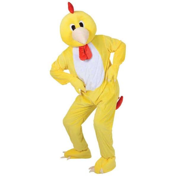 Adults Funky Chicken Mascot Costume