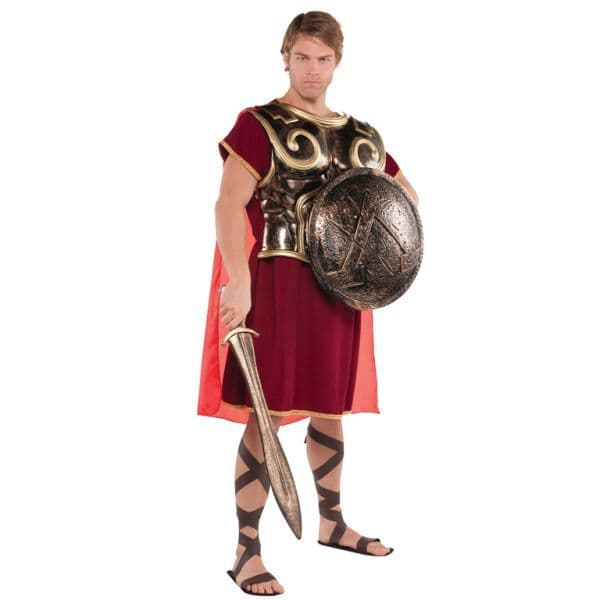 Adults Spartan Chest Plate With Cape