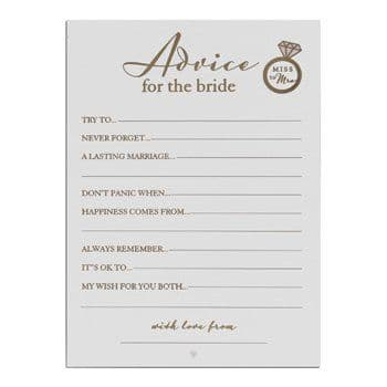 Advice for the Bride Game
