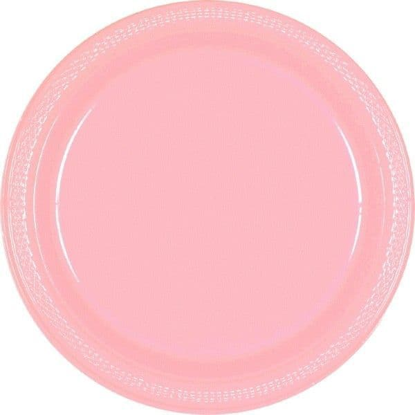 Baby Pink Large Plastic Plates
