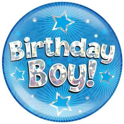 Blue Birthday Boy Jumbo Badge