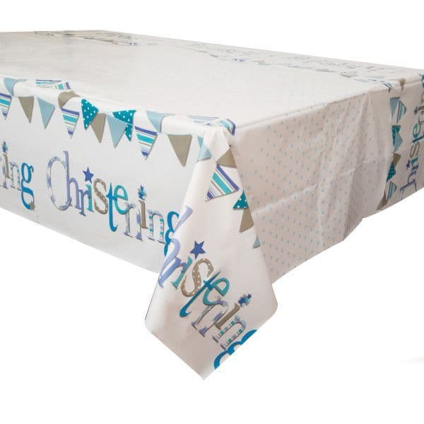 Blue Christening Table Cover