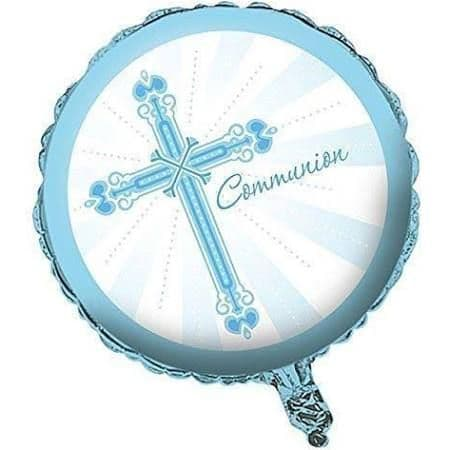 Blue Communion Foil Balloon