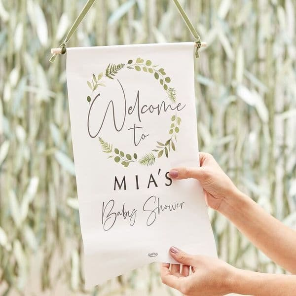 Botanical Baby Welcome Sign