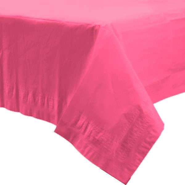 Bright Pink Paper Table Cover