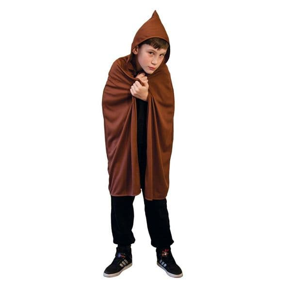 Childs Hooded Cape - Brown