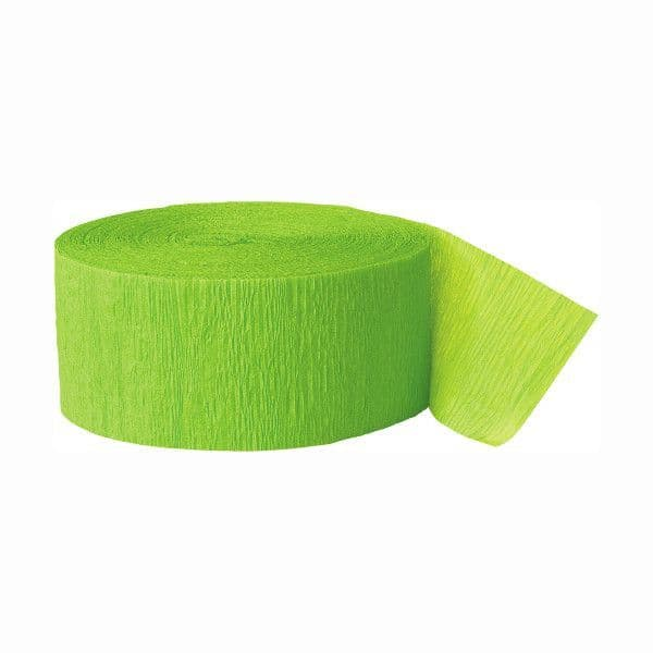 Crepe Streamers- Lime Green