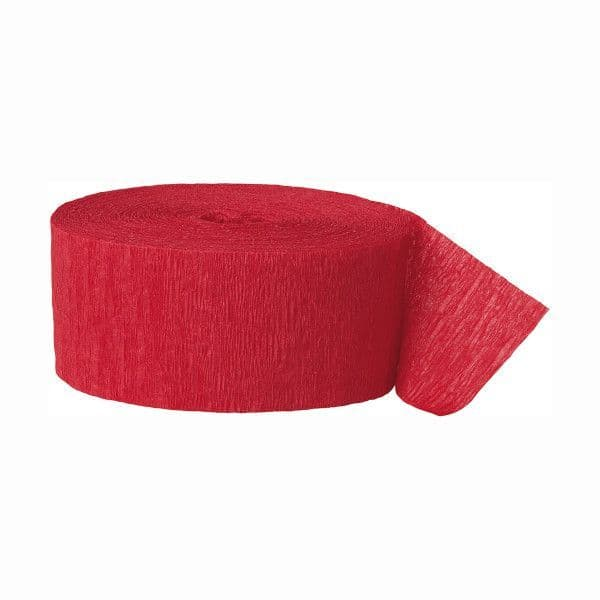 Crepe Streamers- Red