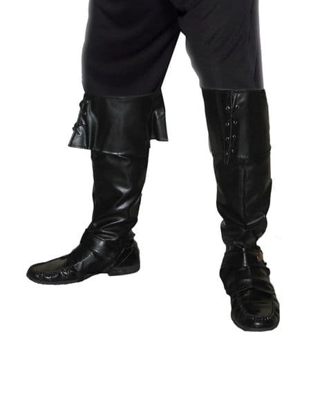 Deluxe Pirate Bootcovers - Black