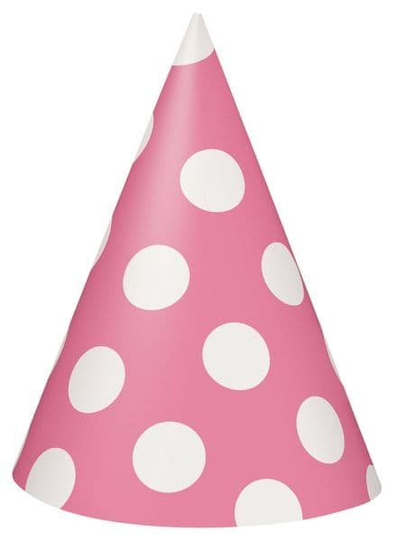 Dotted Party Hat - Pink