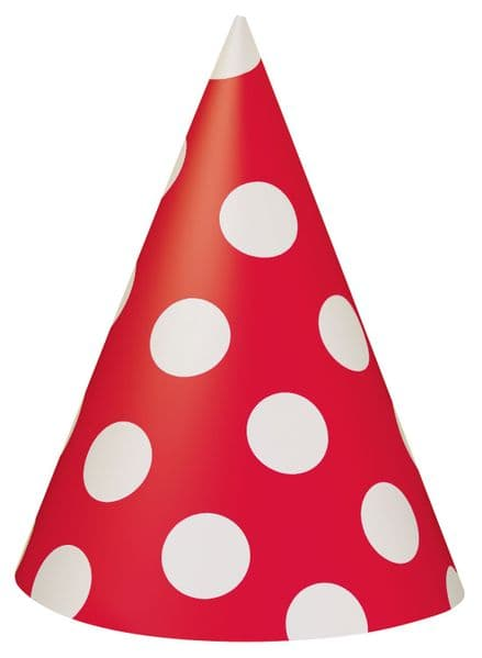 Dotted Party Hat - Red