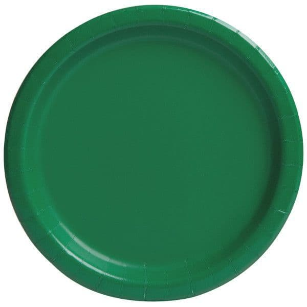 Emerald Green Large Paper Plates