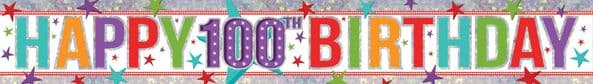 Holographic 100th Birthday Banner