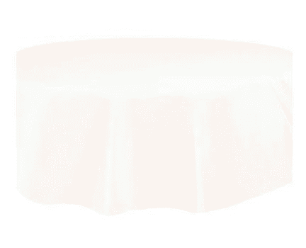 Ivory Round Plastic Table Cover