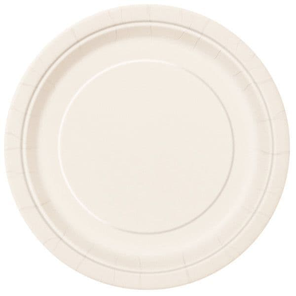 Ivory Small Paper Plates