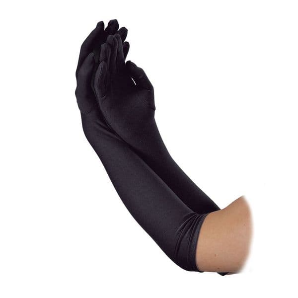 Ladies Long Gloves - Black
