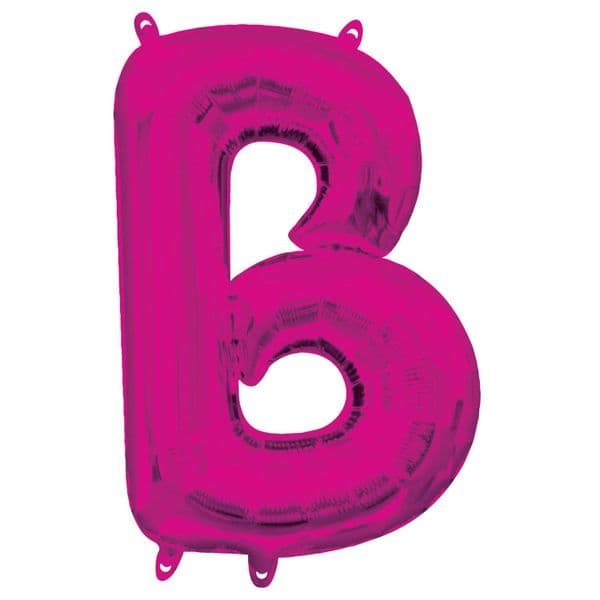 Letter B Pink 16in Foil Balloon