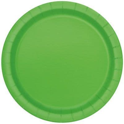 Lime Green Large Paper Plates