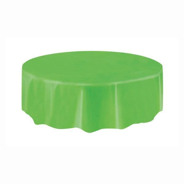Lime Green Round Plastic Table Cover